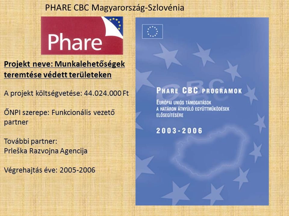 PHARE CBC Magyarország-Szlovénia