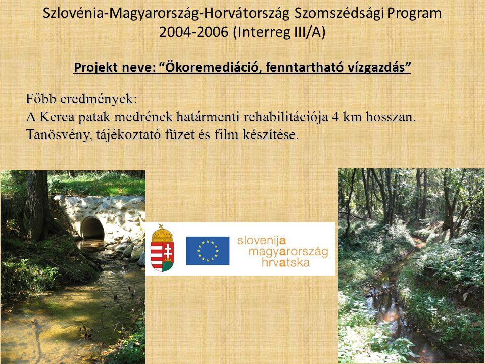 Projekt neve: Ökoremediáció, fenntartható vízgazdás