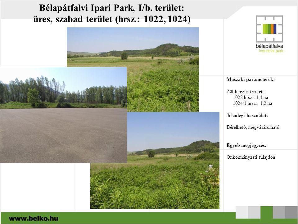 Bélapátfalvi Ipari Park, I/b. terület: üres, szabad terület (hrsz