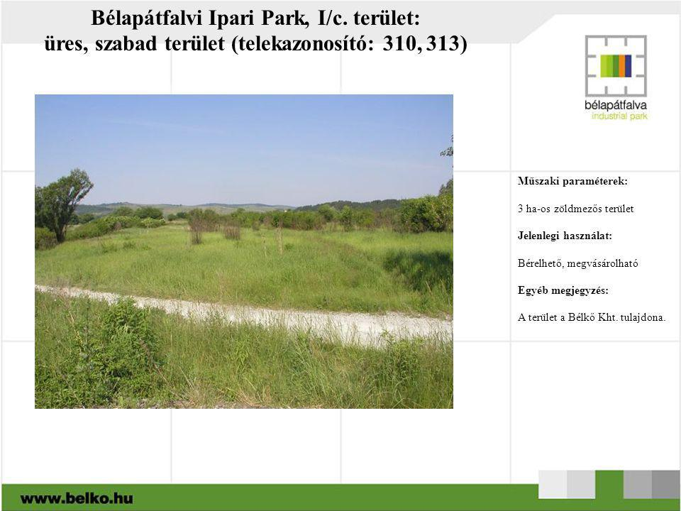 Bélapátfalvi Ipari Park, I/c