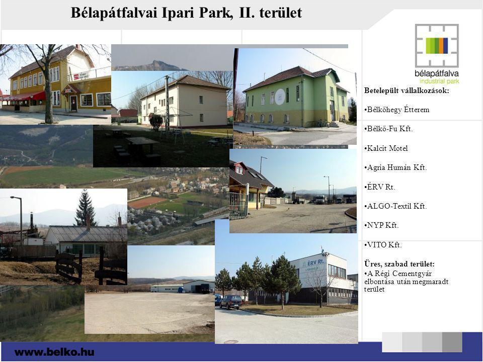 Bélapátfalvai Ipari Park, II. terület