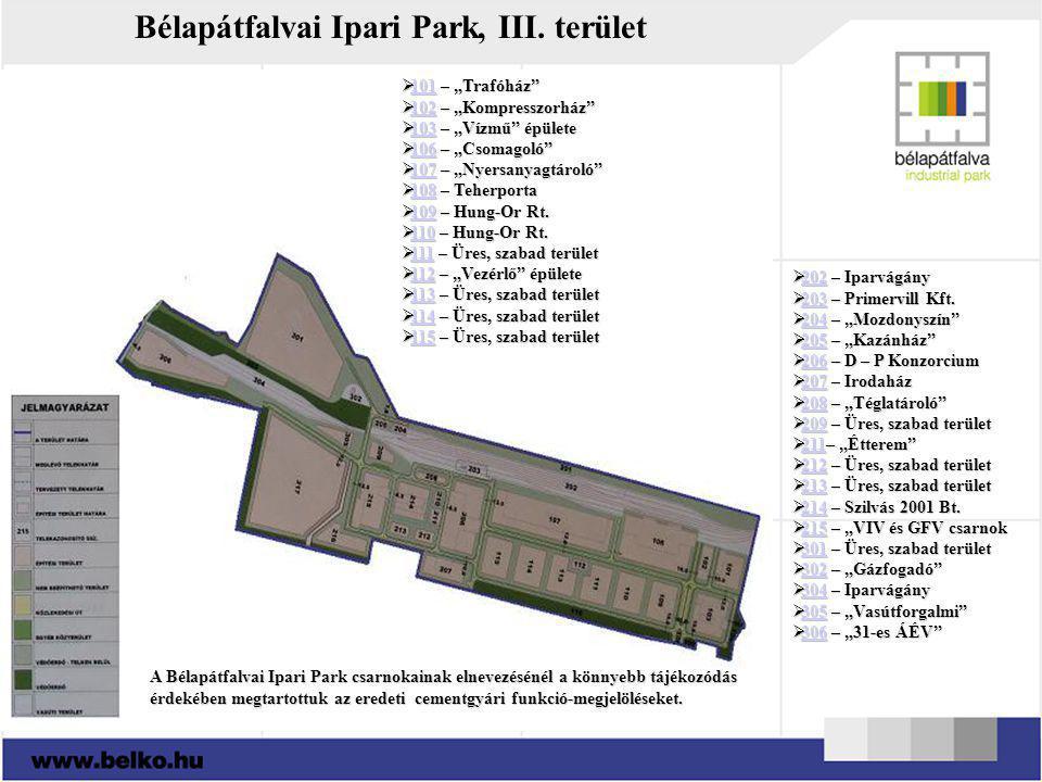 Bélapátfalvai Ipari Park, III. terület