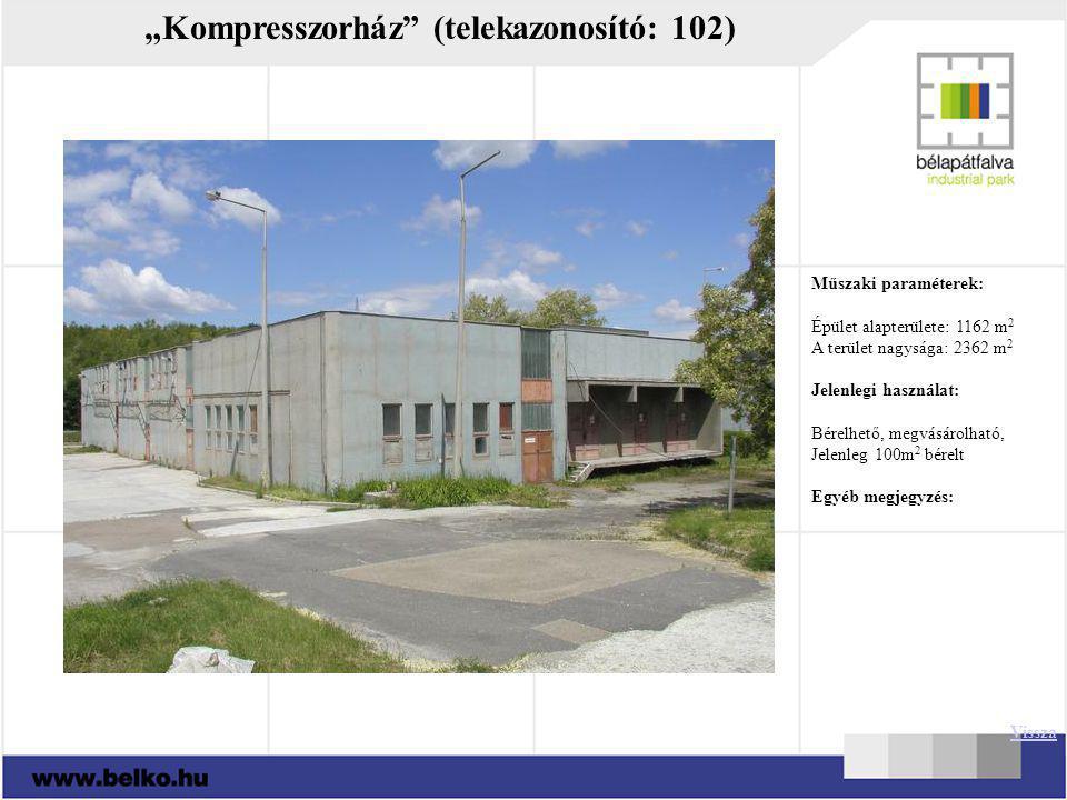 """""""Kompresszorház (telekazonosító: 102)"""