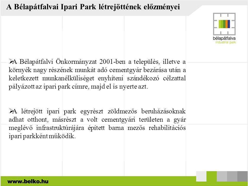 A Bélapátfalvai Ipari Park létrejöttének előzményei
