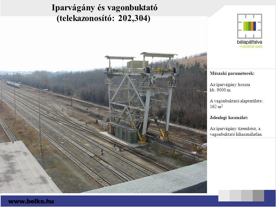 Iparvágány és vagonbuktató (telekazonosító: 202,304)