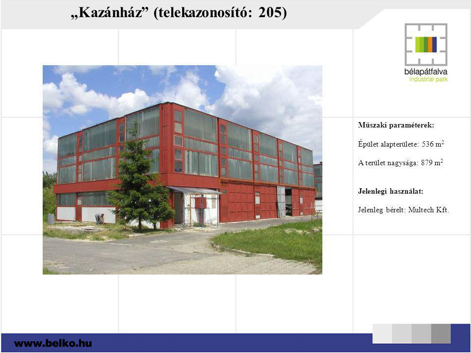 """""""Kazánház (telekazonosító: 205)"""