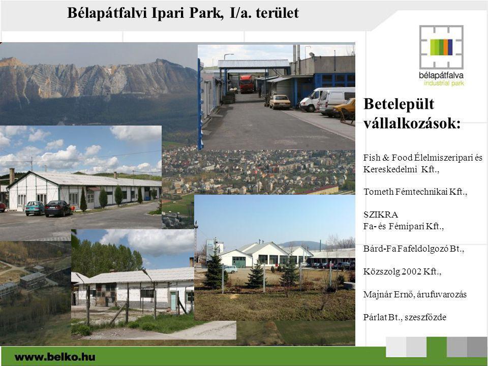 Bélapátfalvi Ipari Park, I/a. terület