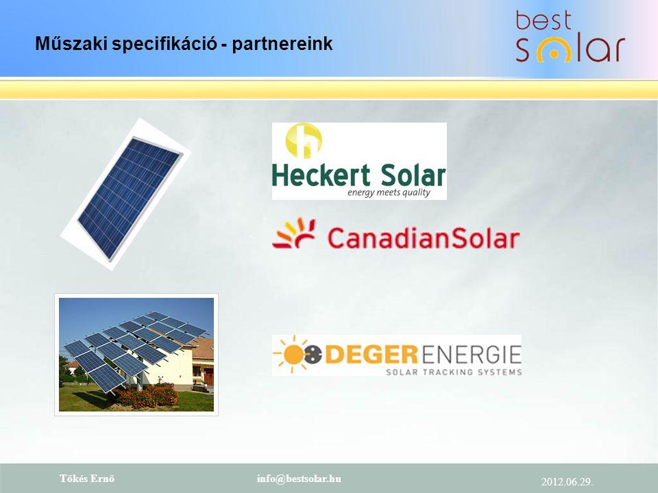 Műszaki specifikáció - partnereink