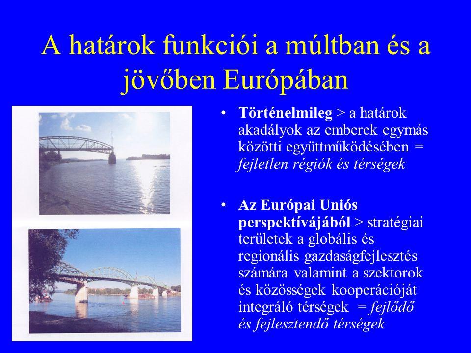 A határok funkciói a múltban és a jövőben Európában