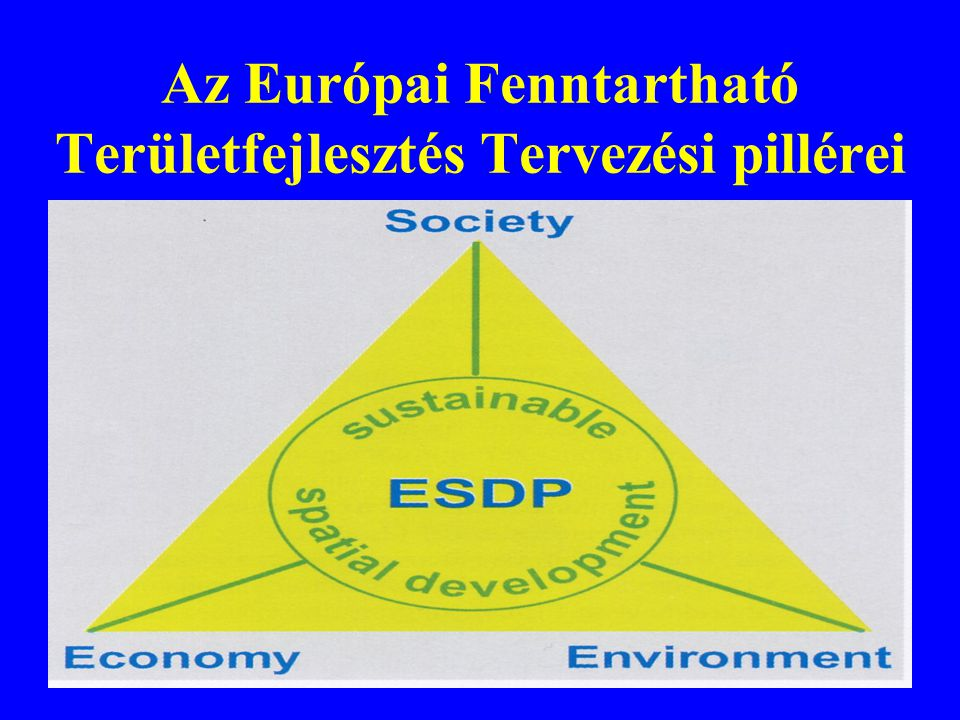 Az Európai Fenntartható Területfejlesztés Tervezési pillérei