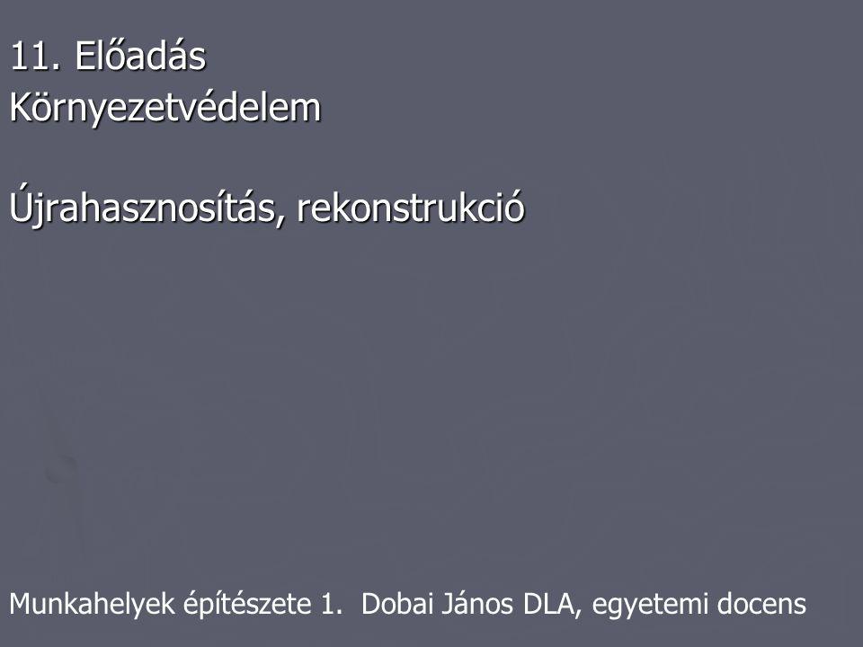 Munkahelyek építészete 1. Dobai János DLA, egyetemi docens