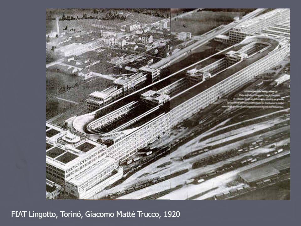FIAT Lingotto, Torinó, Giacomo Mattè Trucco, 1920