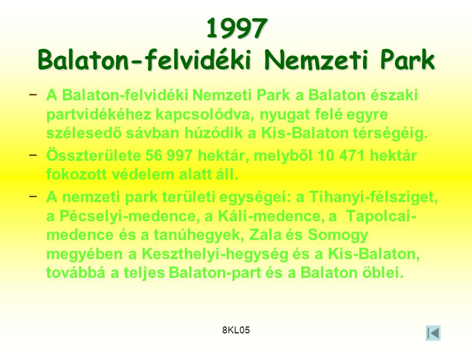 1997 Balaton-felvidéki Nemzeti Park