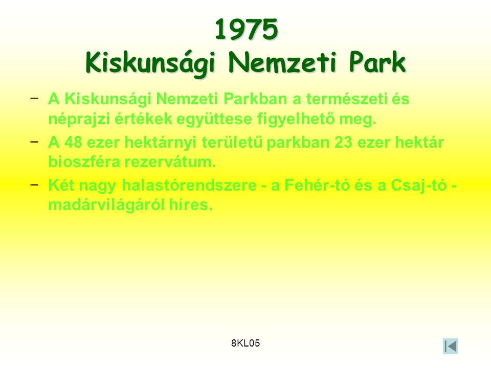 1975 Kiskunsági Nemzeti Park