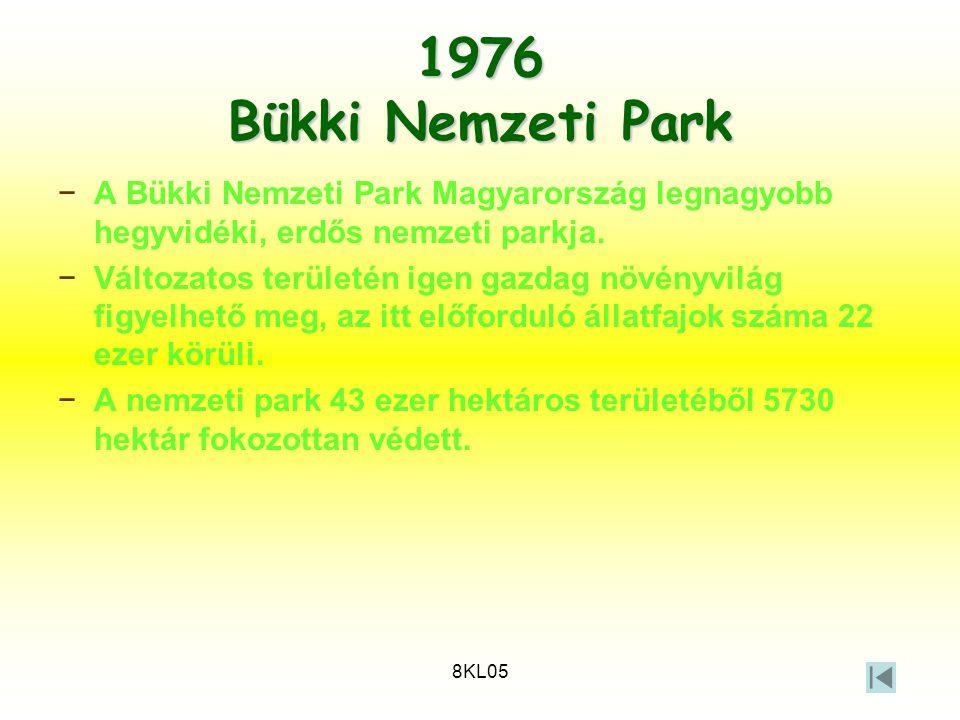 1976 Bükki Nemzeti Park A Bükki Nemzeti Park Magyarország legnagyobb hegyvidéki, erdős nemzeti parkja.