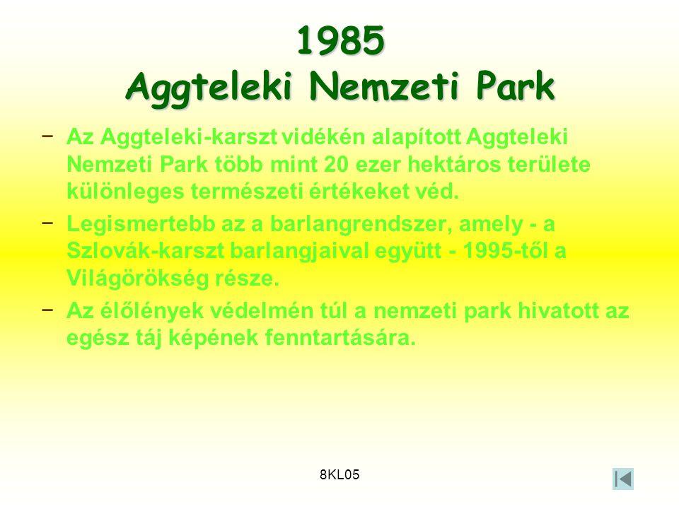 1985 Aggteleki Nemzeti Park