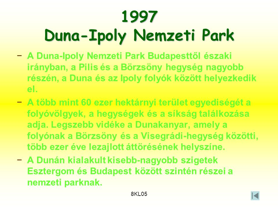 1997 Duna-Ipoly Nemzeti Park