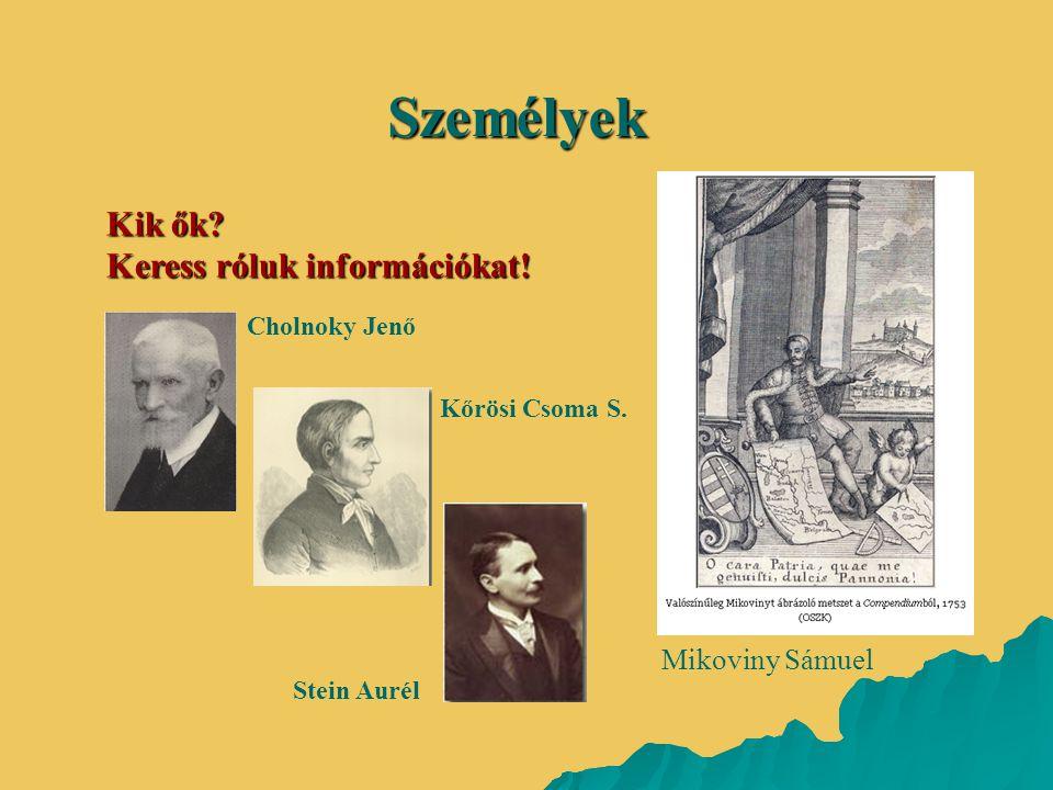 Személyek Kik ők Keress róluk információkat! Mikoviny Sámuel