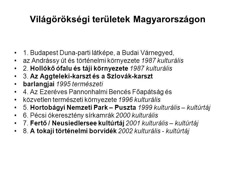 Világörökségi területek Magyarországon