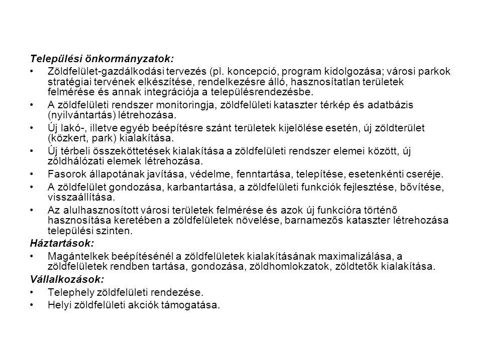Települési önkormányzatok: