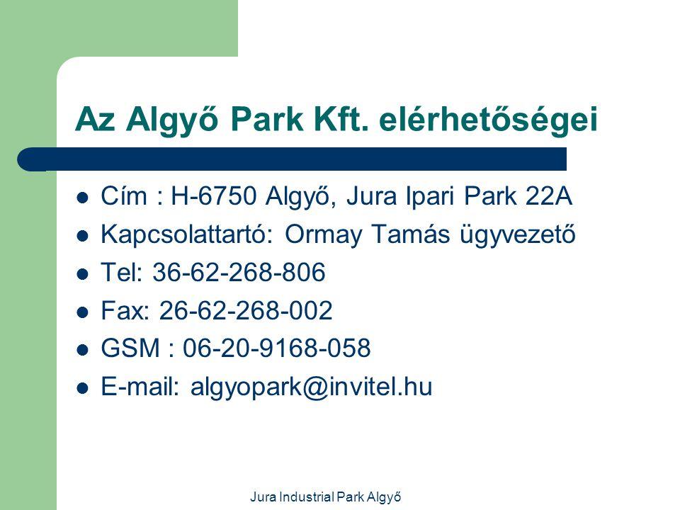Az Algyő Park Kft. elérhetőségei