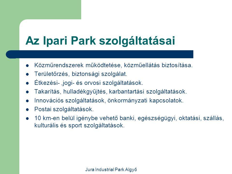 Az Ipari Park szolgáltatásai