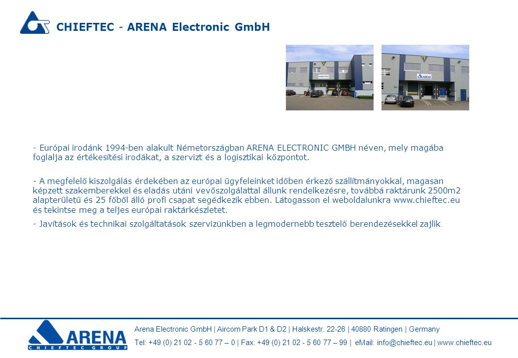 CHIEFTEC - ARENA Electronic GmbH