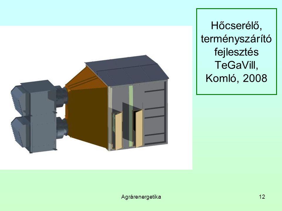 Hőcserélő, terményszárító fejlesztés TeGaVill, Komló, 2008