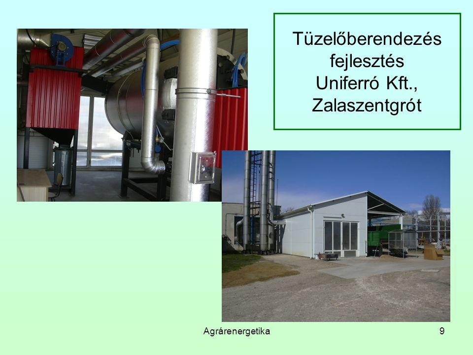 Tüzelőberendezés fejlesztés Uniferró Kft., Zalaszentgrót