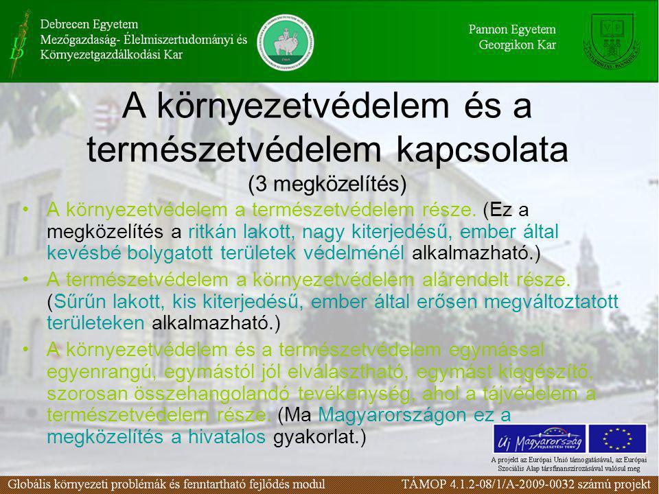 A környezetvédelem és a természetvédelem kapcsolata (3 megközelítés)