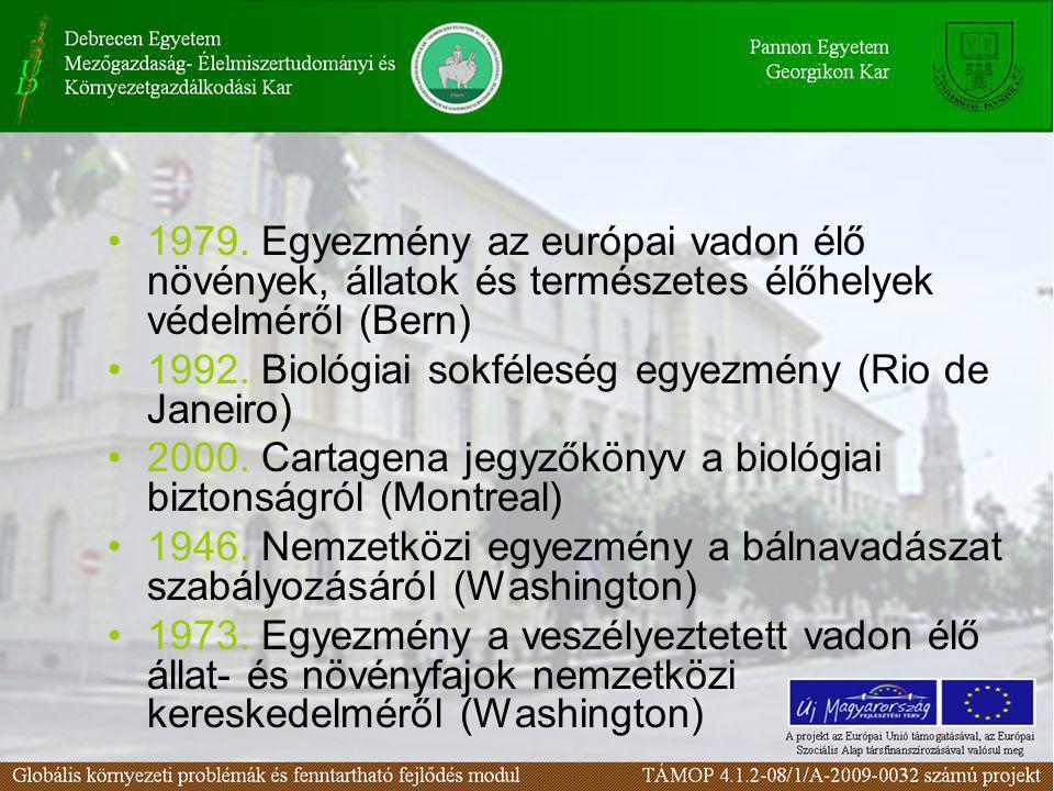 1979. Egyezmény az európai vadon élő növények, állatok és természetes élőhelyek védelméről (Bern)