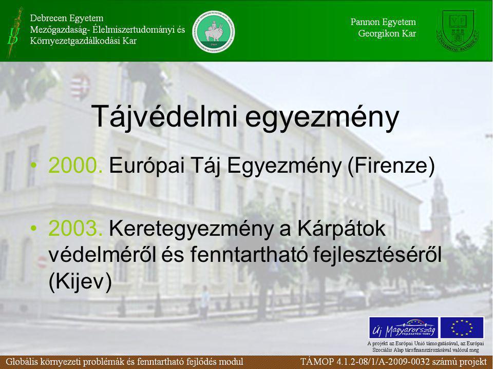 Tájvédelmi egyezmény 2000. Európai Táj Egyezmény (Firenze)