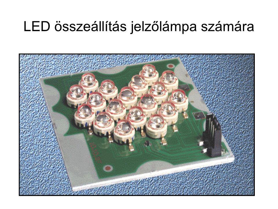 LED összeállítás jelzőlámpa számára
