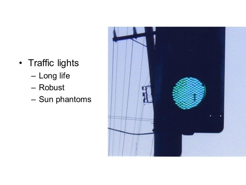 Traffic lights Long life Robust Sun phantoms