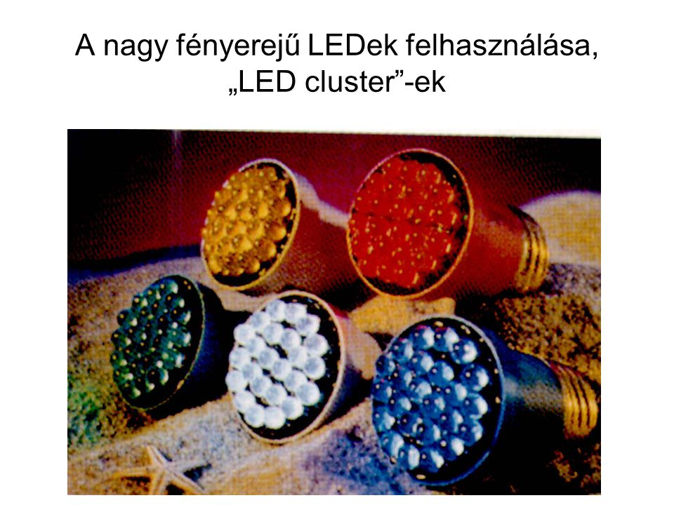 """A nagy fényerejű LEDek felhasználása, """"LED cluster -ek"""