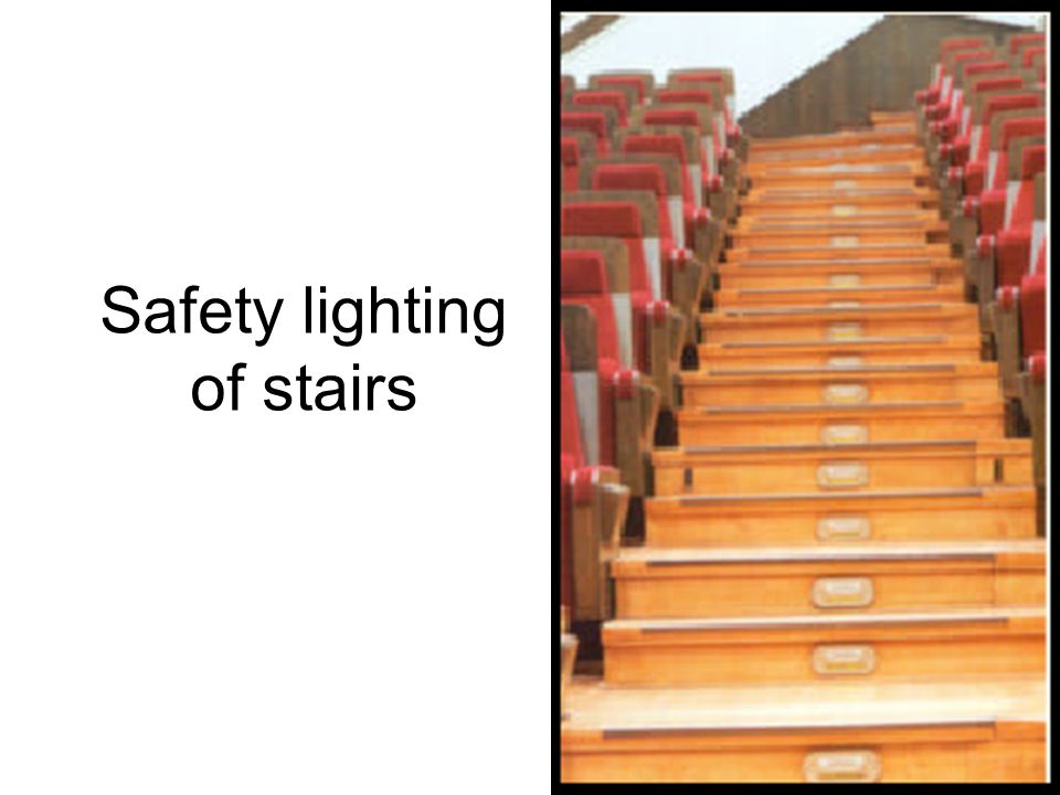 Safety lighting of stairs