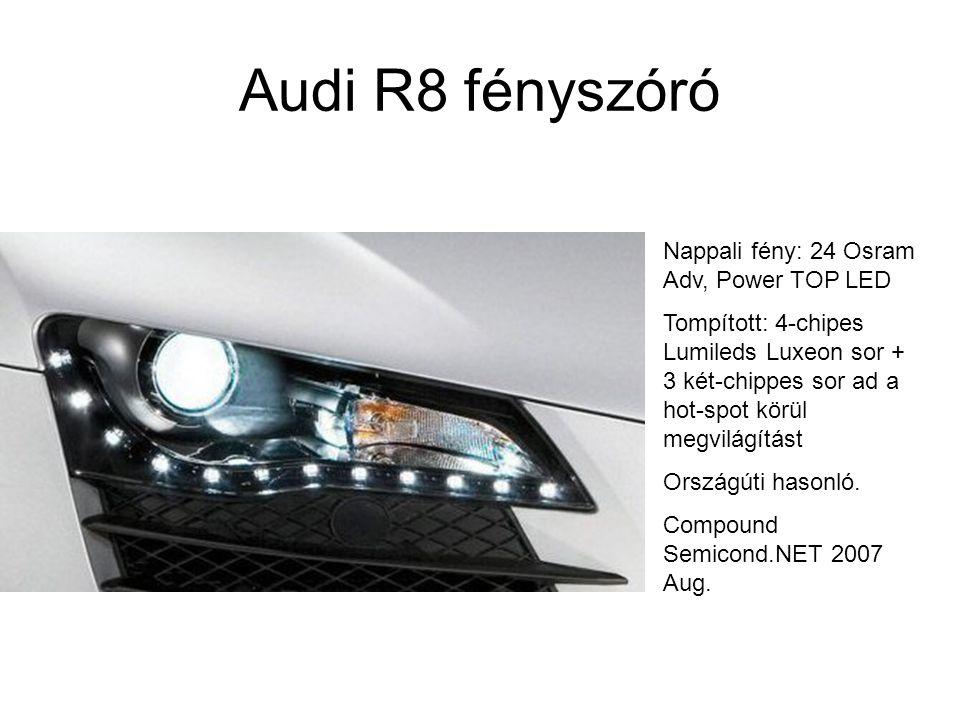 Audi R8 fényszóró Nappali fény: 24 Osram Adv, Power TOP LED