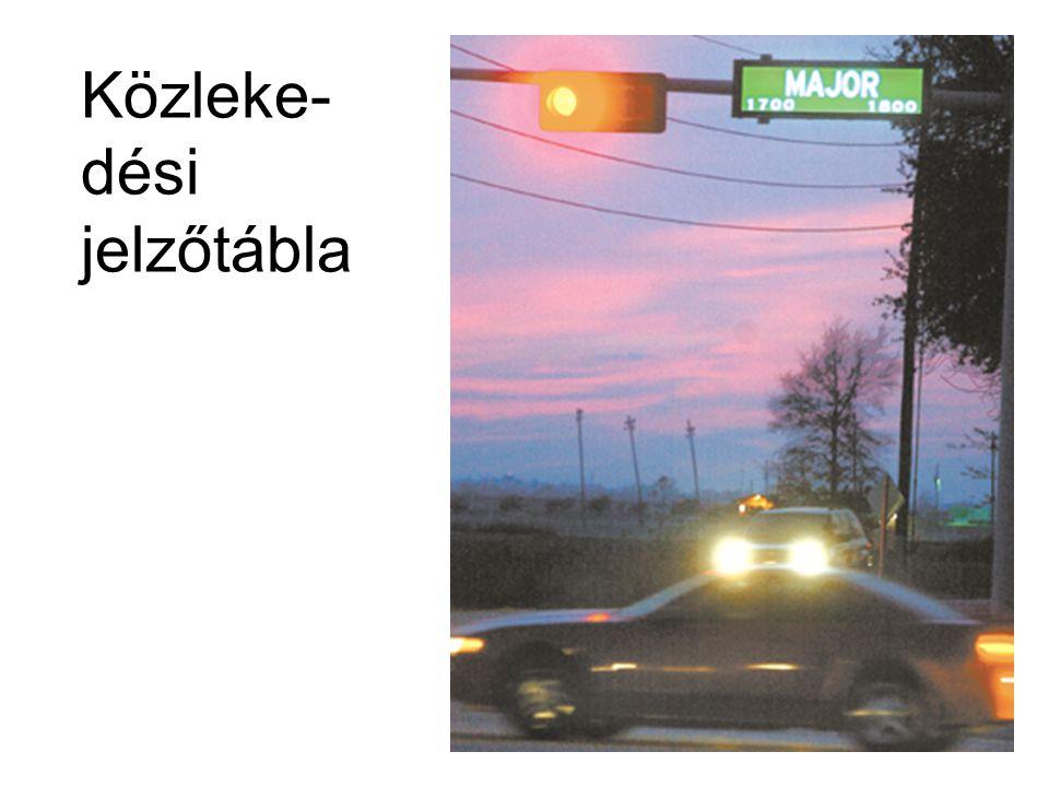Közleke-dési jelzőtábla