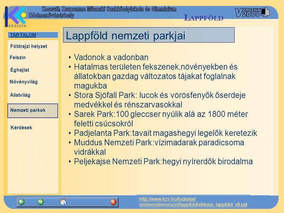 Lappföld nemzeti parkjai