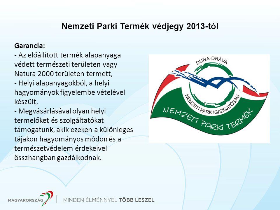 Nemzeti Parki Termék védjegy 2013-tól