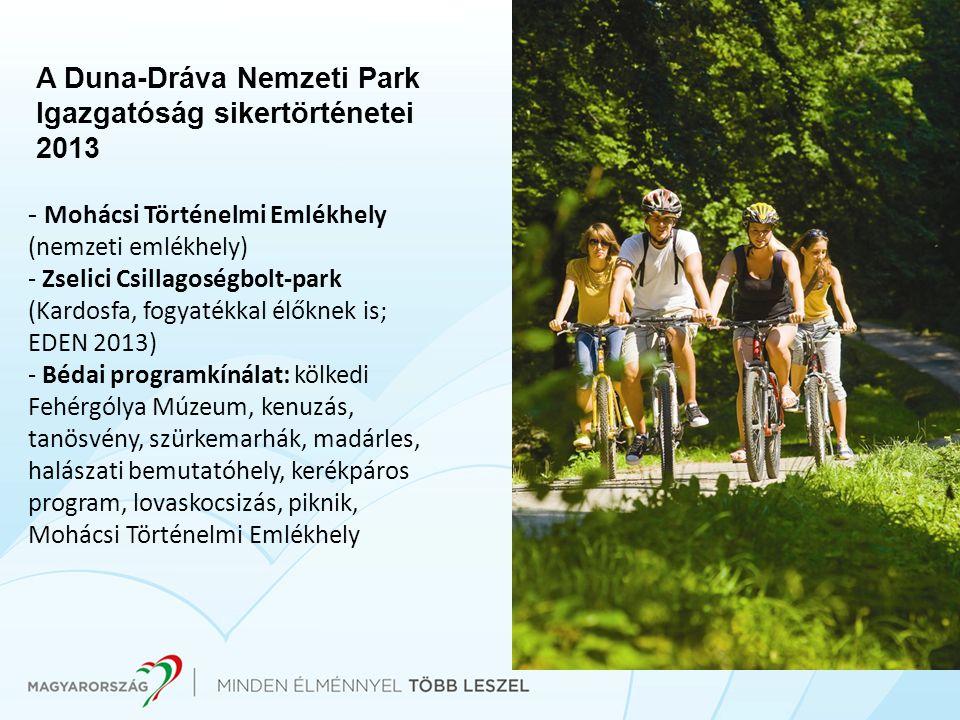 A Duna-Dráva Nemzeti Park Igazgatóság sikertörténetei 2013