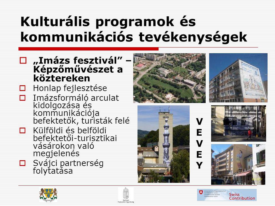 Kulturális programok és kommunikációs tevékenységek
