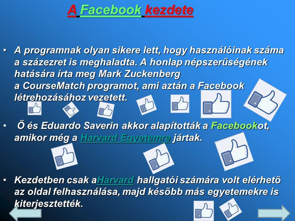 A programnak olyan sikere lett, hogy használóinak száma a százezret is meghaladta. A honlap népszerűségének hatására írta meg Mark Zuckenberg a CourseMatch programot, ami aztán a Facebook létrehozásához vezetett.
