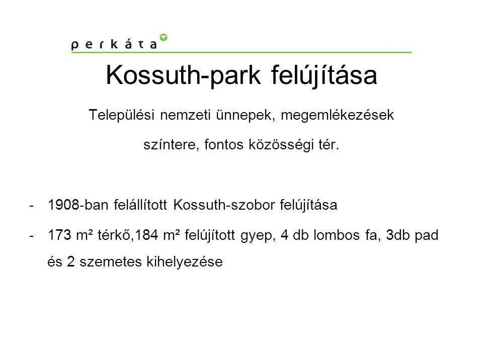 Kossuth-park felújítása