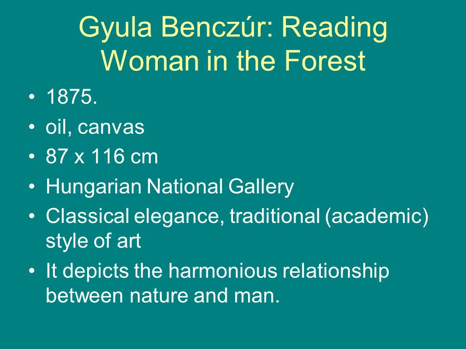 Gyula Benczúr: Reading Woman in the Forest