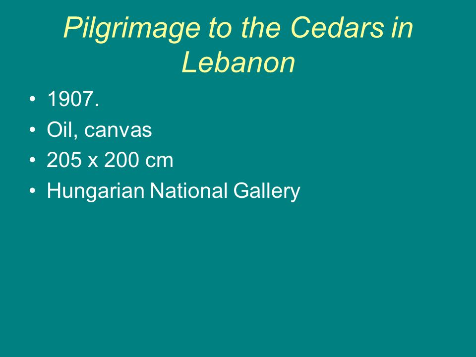 Pilgrimage to the Cedars in Lebanon