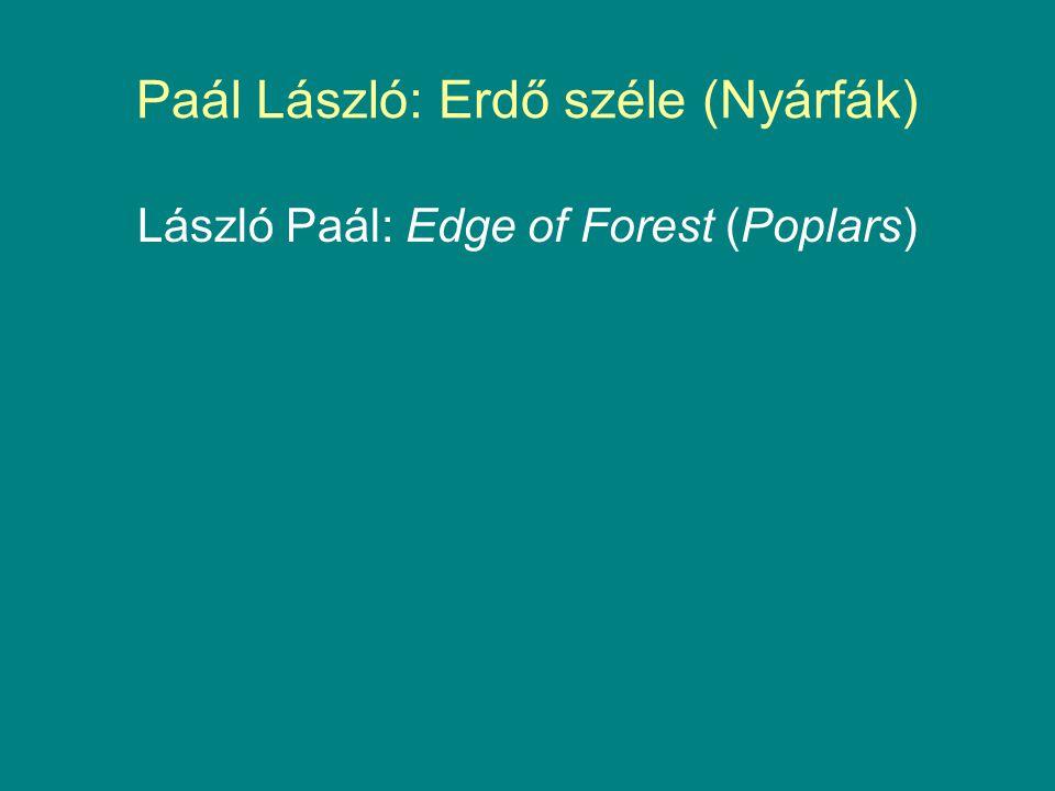 Paál László: Erdő széle (Nyárfák)