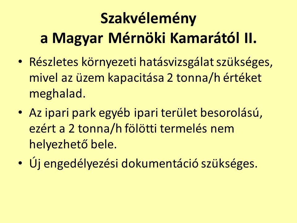 Szakvélemény a Magyar Mérnöki Kamarától II.
