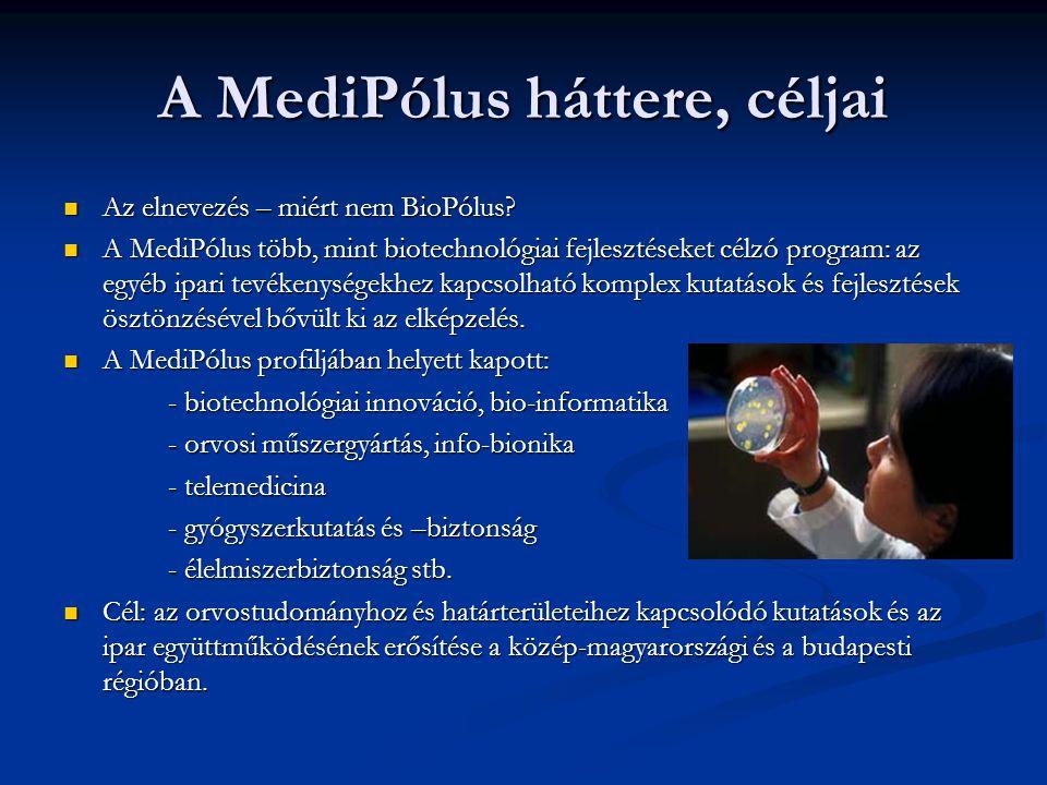A MediPólus háttere, céljai