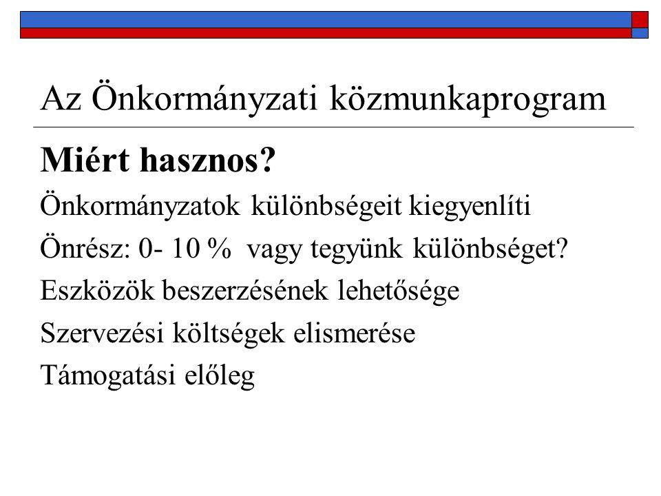 Az Önkormányzati közmunkaprogram